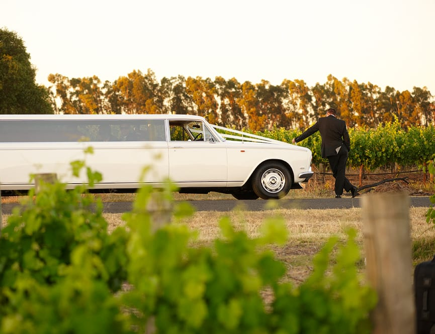 image of wedding at black swan winery